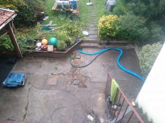 Terrasse bois cailleboti extérieur avant travaux