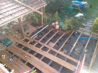 Terrasse Bois en chantier